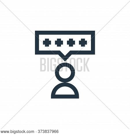 feedback icon isolated on white background from feedback and testimonials collection. feedback icon