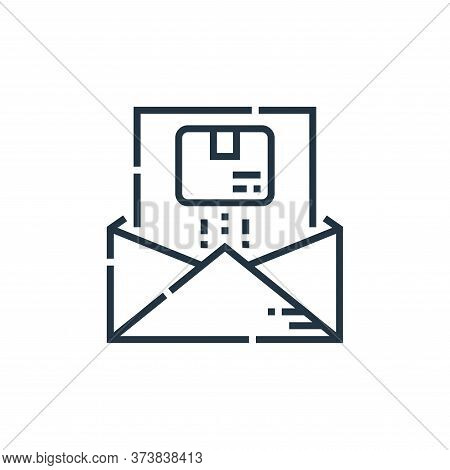 email icon isolated on white background from delivery collection. email icon trendy and modern email