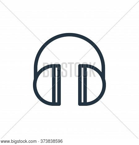 headphones icon isolated on white background from technology collection. headphones icon trendy and