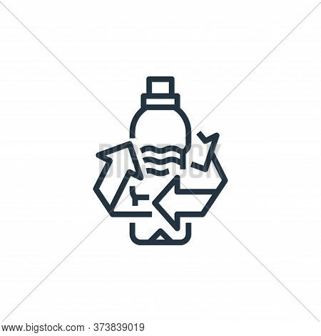 water bottle icon isolated on white background from recycling collection. water bottle icon trendy a