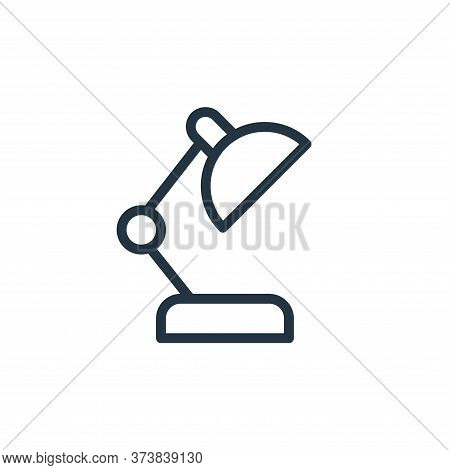 adjustable lamp icon isolated on white background from work office supply collection. adjustable lam