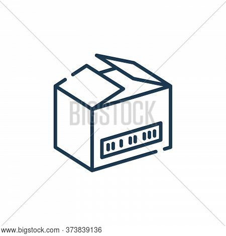 open box icon isolated on white background from delivery collection. open box icon trendy and modern