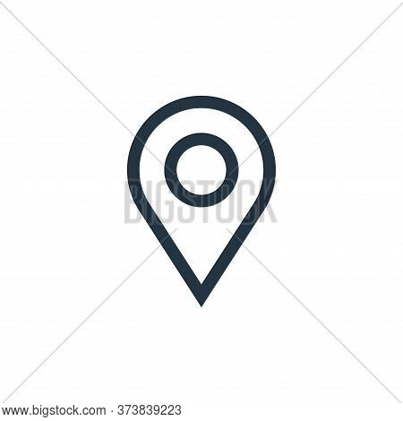 location icon isolated on white background from web essentials collection. location icon trendy and