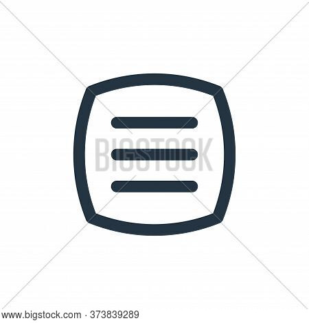 open menu icon isolated on white background from basic ui collection. open menu icon trendy and mode