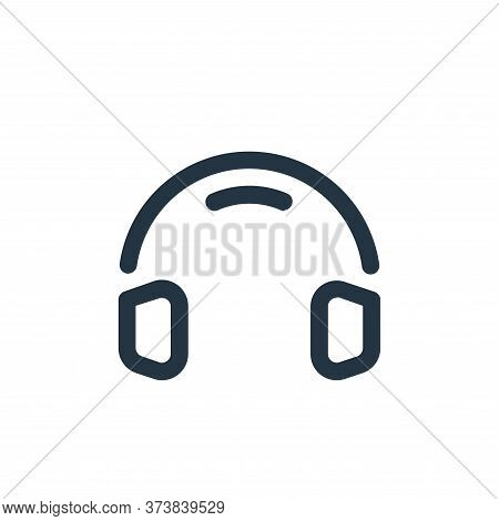 headphones icon isolated on white background from multimedia collection. headphones icon trendy and