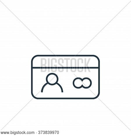 id card icon isolated on white background from user interface collection. id card icon trendy and mo