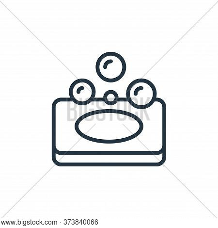 soap icon isolated on white background from hygiene collection. soap icon trendy and modern soap sym