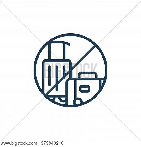 no travelling icon isolated on white background from self isolation collection. no travelling icon t