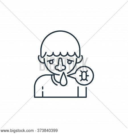 runny nose icon isolated on white background from virus transmission collection. runny nose icon tre
