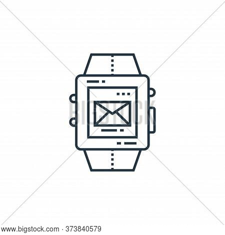 smartwatch icon isolated on white background from technology devices collection. smartwatch icon tre
