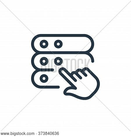 select icon isolated on white background from work office server collection. select icon trendy and