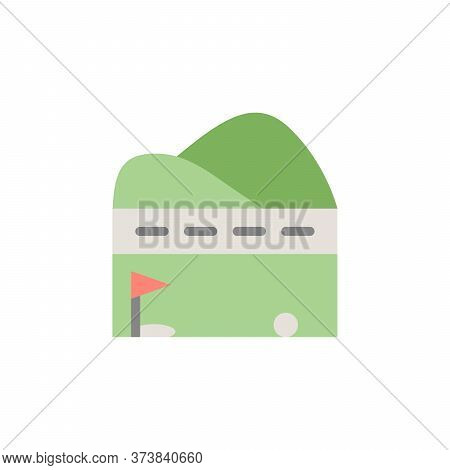 Golf Field, Flag Colored Icon. Simple Colored Element Illustration. Golf Field, Flag Concept Symbol