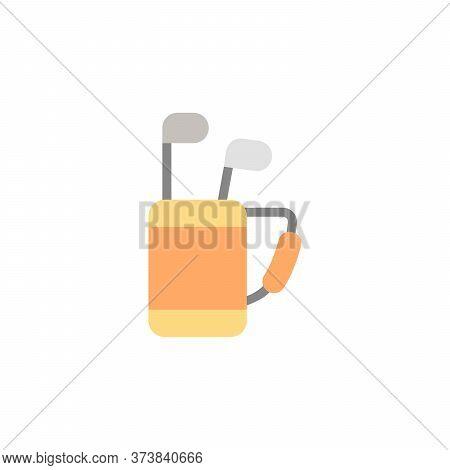 Golf Bag, Sticks Colored Icon. Simple Colored Element Illustration. Golf Bag, Sticks Concept Symbol