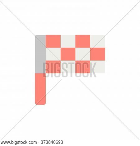 Golf Flag Colored Icon. Simple Colored Element Illustration. Golf Flag Concept Symbol Design From Go
