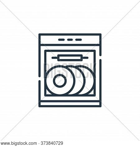 dish washer icon isolated on white background from cleaning collection. dish washer icon trendy and