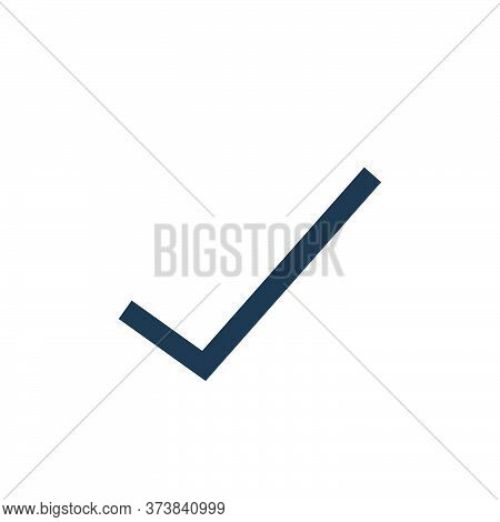 check mark icon isolated on white background from user interface collection. check mark icon trendy