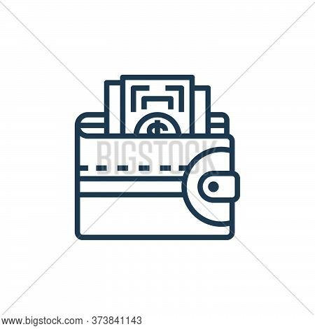 wallet icon isolated on white background from motorway collection. wallet icon trendy and modern wal