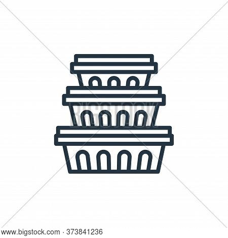 food container icon isolated on white background from food delivery collection. food container icon