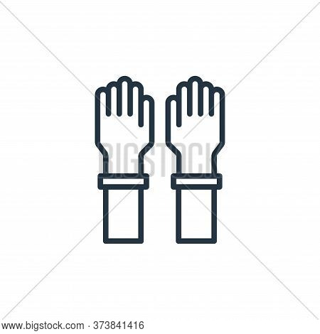 glove icon isolated on white background from virus collection. glove icon trendy and modern glove sy