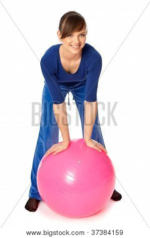 Exercises on a gymnastic ball