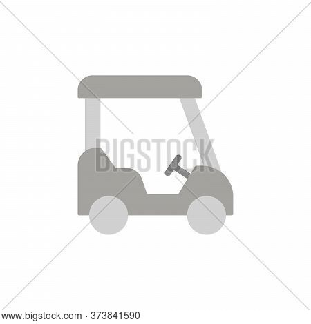 Golf Cart Colored Icon. Simple Colored Element Illustration. Golf Cart Concept Symbol Design From Go