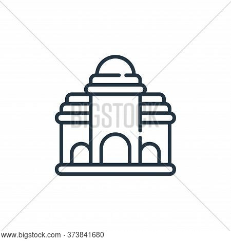 building icon isolated on white background from desert collection. building icon trendy and modern b
