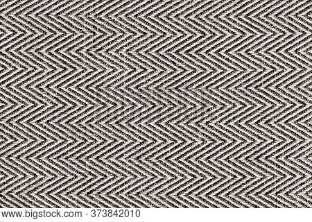 Dark Brown With Beige Colors Fabric Sample Herringbone,zigzag Pattern Texture Backdrop.fabric Strip