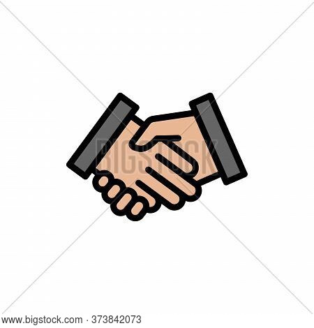 Handshake Colored Icon. Simple Color Element Illustration. Handshake Concept Outline Symbol Design F