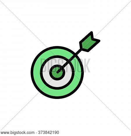 Goal Colored Icon. Simple Color Element Illustration. Goal Concept Outline Symbol Design From Busine