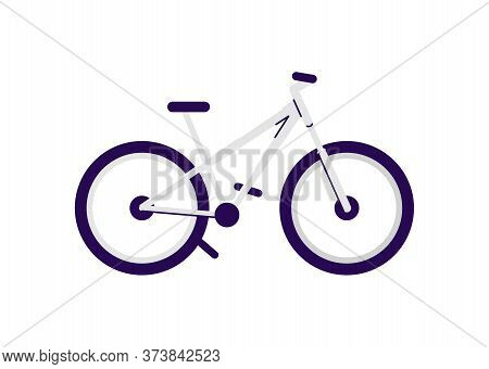 Mountain Bicycle Semi Flat Rgb Color Vector Illustration. Professional Pedal Vehicle, Sportive Trans