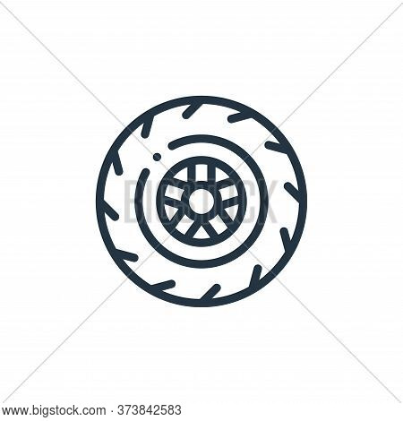 wheel icon isolated on white background from autoracing collection. wheel icon trendy and modern whe