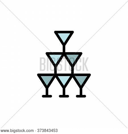 Tequila Glasses Colored Icon. Simple Color Element Illustration. Tequila Glasses Concept Outline Sym