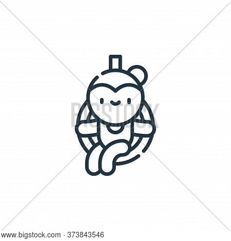 trapeze artist icon isolated on white background from circus collection. trapeze artist icon trendy