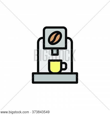 Espresso Maker Colored Icon. Simple Color Element Illustration. Espresso Maker Concept Outline Symbo