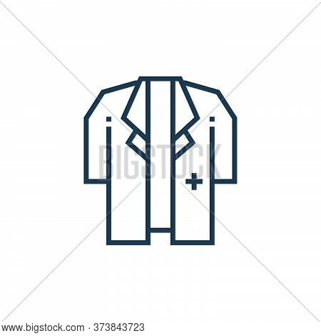 doctor coat icon isolated on white background from medical services collection. doctor coat icon tre