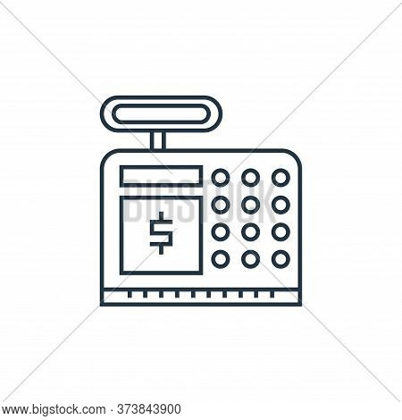 cash counter icon isolated on white background from online shopping collection. cash counter icon tr