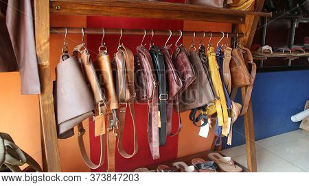 The Process Of Producing Cowhide Leather For The Clothing Industry, Selection Of Focus, Noise And Gr