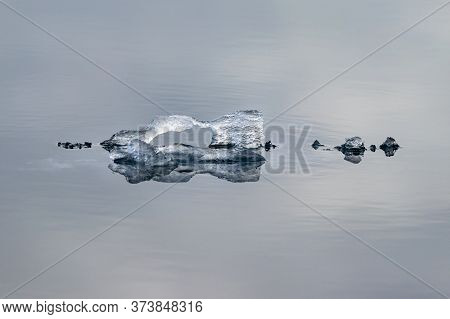Natural Crystal Ice Shapes On Peel Sound, A Waterway Situated In Pince Of Wales Island At The Northw