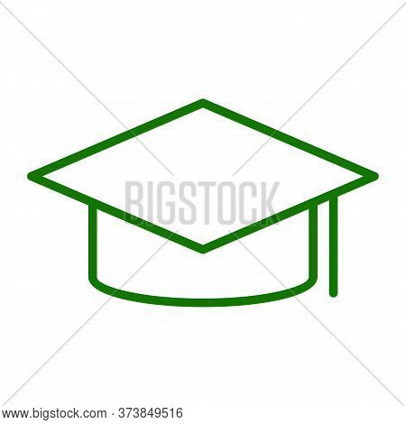 Graduation Cap Icon. Vector Illustration Of Graduate Hat. Mortarboard Educational Symbol