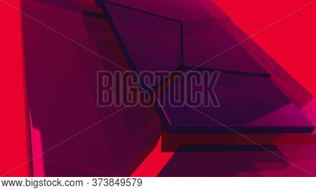 Corporate Background, Computer Generated. Combining Geometric Parts Into A Single Structures. 3d Ren