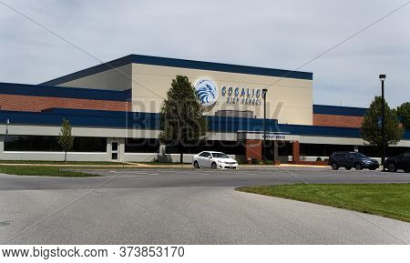 Lancaster, Pennsylvania/united States - May 19 2020: View Of The Front Entrance Of Cocalico High Sch