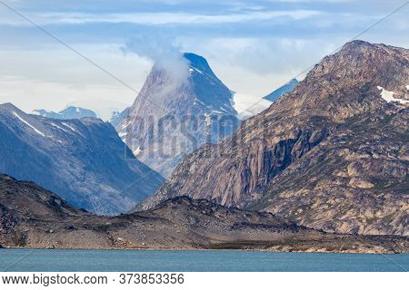 Detail Of The Fjord Skjoldungen, A Coastal Island In The Southeastern Shores Of Greenland. It Is Loc