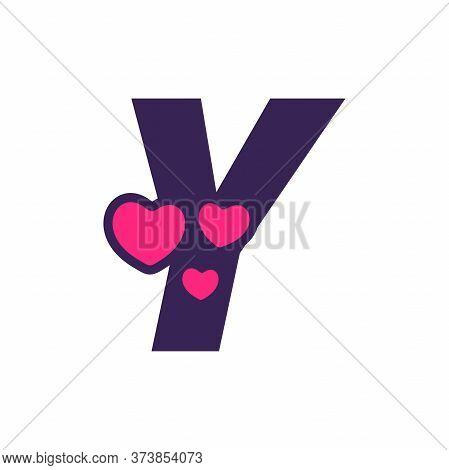 Simple And Cute Illustration Logo Design Initial Y Love.