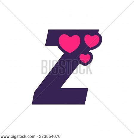 Simple And Cute Illustration Logo Design Initial Z Love.