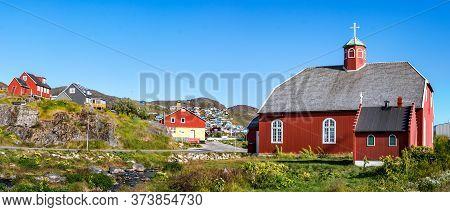 The Frelserens Kirke Church Built In 1832, Also Known As Our Saviour. Qaqortoq - Julianehab, Greenla