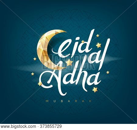 Eid Al Adha Mubarak The Celebration Of Muslim Community Festival Calligraphy Background Design.