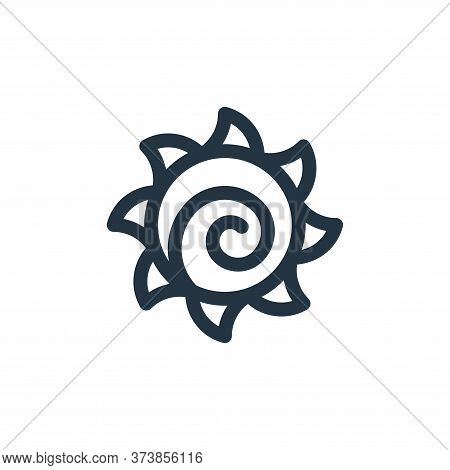 sun icon isolated on white background from mexico collection. sun icon trendy and modern sun symbol