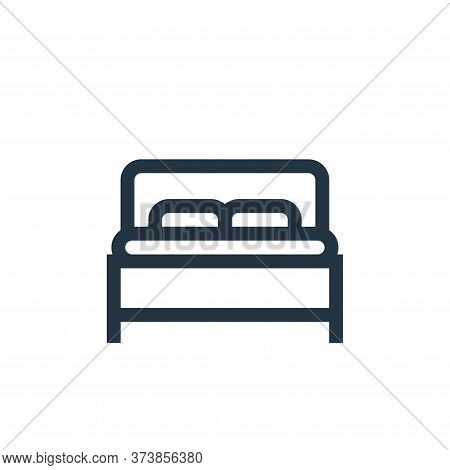 bed icon isolated on white background from mental health collection. bed icon trendy and modern bed