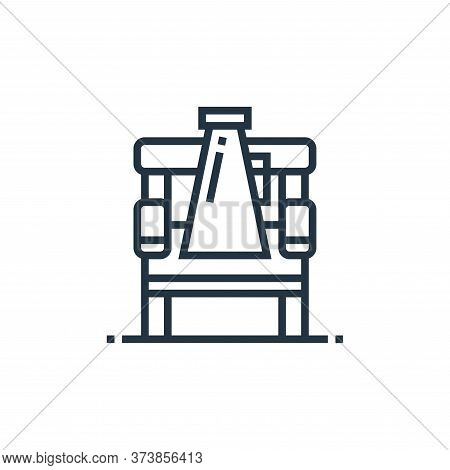 director chair icon isolated on white background from cinema collection. director chair icon trendy