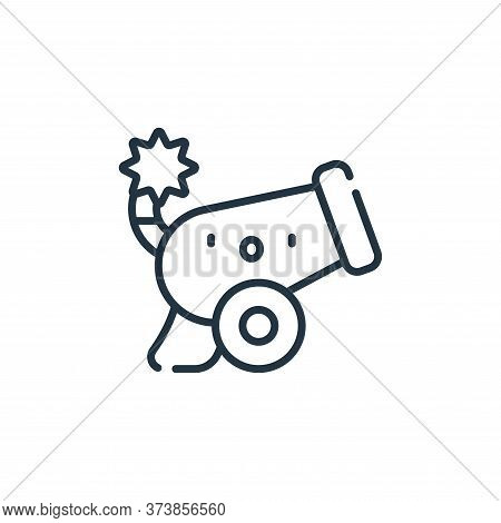 cannon icon isolated on white background from ramadan collection. cannon icon trendy and modern cann